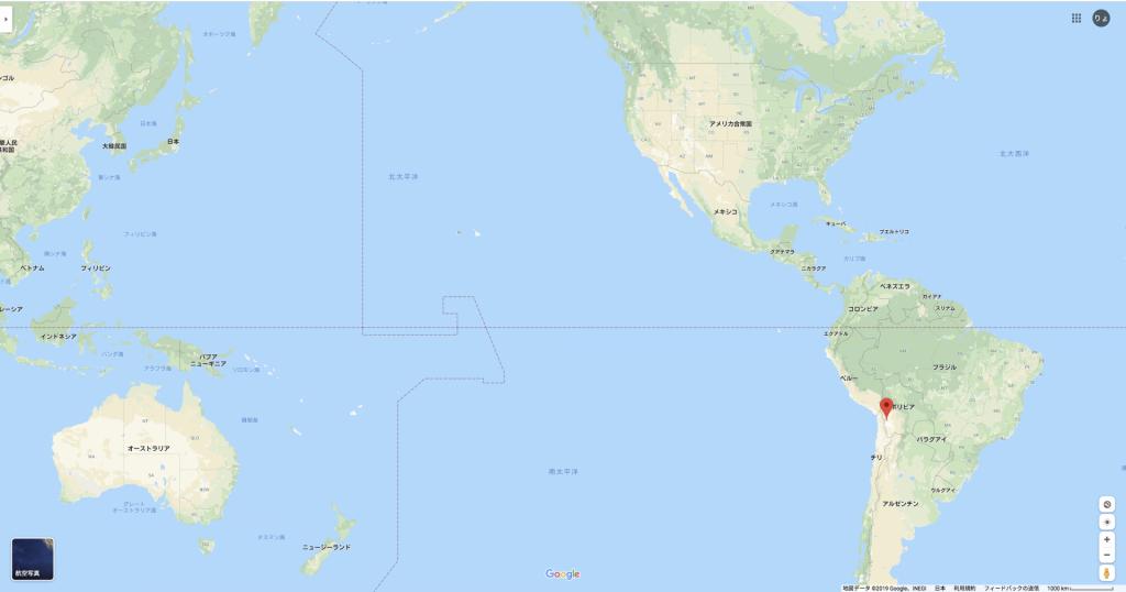 ウユニ塩湖 どこ ボリビア